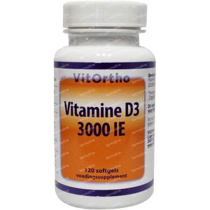Vitortho Vitamine D3 3000IE 120 softgels