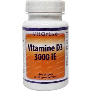Vitortho Vitamine D3 3000IE 60 softgels