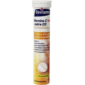 Davitamon Vitamine C & D3 bruistabletten 15 Stuks Bruistabletten