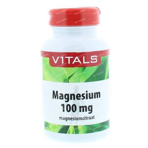 Vitals Magnesiumcitraat 100 mg 100 Stuks Capsules