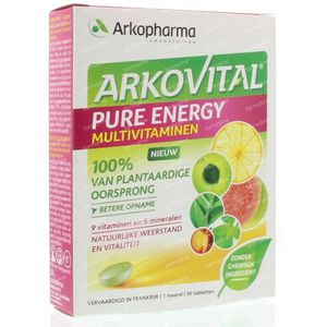 Arkovital Pure energy 30 Stuks Tabletten