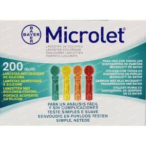 Bayer Microlet lancet 6544R 200 stuks