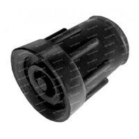 Able 2 Kruk- en stokdoppen 19 mm zwart 2 stuks