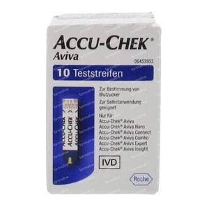 Accu Chek Aviva diabetes teststrip 10 stuks
