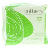 Cottons Maandverband ultradun regular 14 stuks