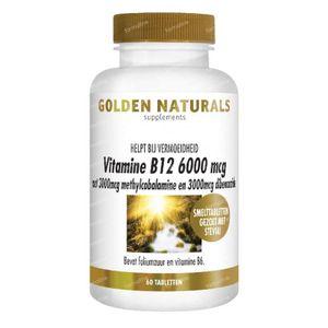 Golden Naturals Vitamine B12 6000 mcg 60 tabletten