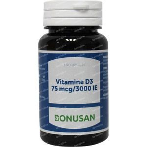 Bonusan Vitamine D3 75 mcg 3000IE 120 softgels
