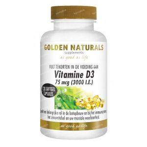 Golden Naturals Vitamine D3 75 mcg 120 stuks Softgels