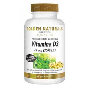 Golden Naturals Vitamine D3 75 mcg 360 stuks Softgels