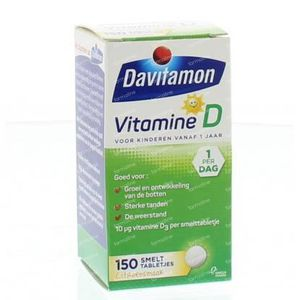 Davitamon D kind smelttablet 150 Stuks Tabletten