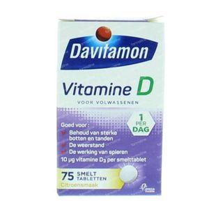 Davitamon D Volwassen smelttablet 75 stuks Tabletten
