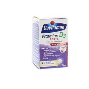 Davitamon D3 Forte smelttablet 75 stuks Tabletten