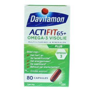 Davitamon Actifit 65+ omega 3 80 St Capsules
