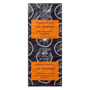 Apivita Express Revitalisierende Maske mit Orangen GRATIS Angeboten 2x8 ml