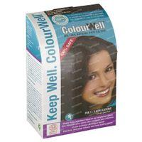 Colourwell 100% natuurlijke haarkleur donker kastanje bruin 100 g