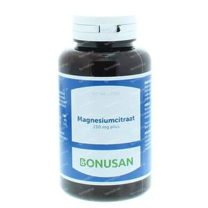 Bonusan Magnesiumcitraat 150 mg plus 120 stuks Tabletten