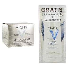 Vichy Neovadiol Normale Huid + Gratis Gezichtsreiniging & Foundationkit 50 ml