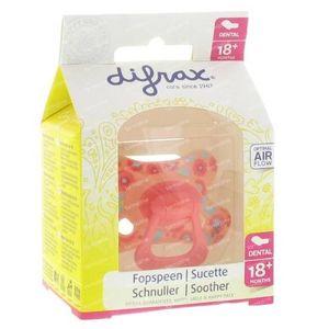 Difrax Sucette Dentaire Extra Résistante Remplie +18M Fleurs 1 pièce