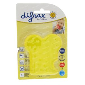 Difrax Bijtspeeltje Watergevuld Geel 1 St