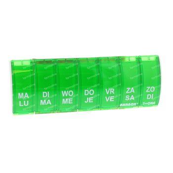 Anabox Boïte A Pilules 7 in 1 NL/FR Vert 1 pièce