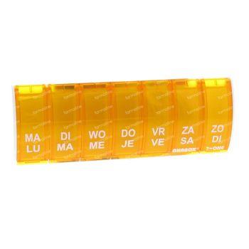 Anabox Boïte A Pilules 7 in 1 NL/FR Orange 1 pièce