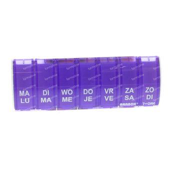 Anabox Boïte A Pilules 7 in 1 NL Violet 1 pièce