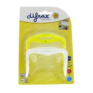 Difrax Handgreep S-Fles Natural Klein En Groot Geel/Wit 2 Stuks