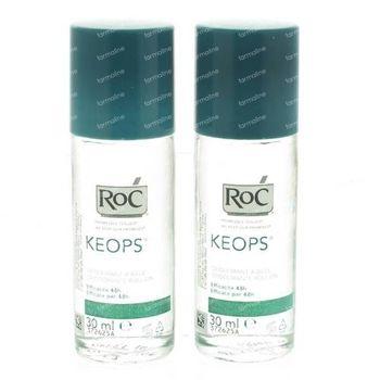 RoC Keops Déodorant à Bille Prix Réduit 2x30 ml rouleau
