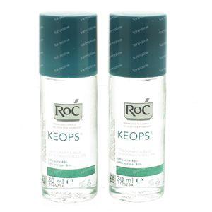Roc Keops Deodorant Roller Verlaagde Prijs 2x30 ml roller