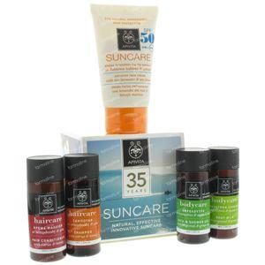 Apivita Sun Antispot Face Cream SPF50 + Hair & Body 4x30ml Free 50 ml tube