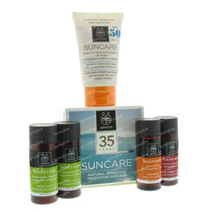 Apivita Sun Anti-Spot Gezichtscrème SPF50 + Hair & Body 4x30ml Gratis 50 ml tube