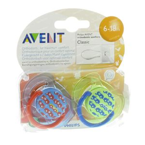Avent Soother Silicon +6m Design Car 2 pieces