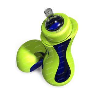 iiamo Go Zelfverwarmende Zuigfles Groen/Blauw 380 ml