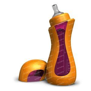 iiamo Go Zelfverwarmende Zuigfles Oranje/Paars 380 ml