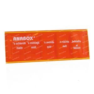Anabox Pilulier 1 jour 5 Cours NL/FR Orange 1 pièce