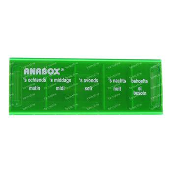 Anabox Pilulier 1 Jour 5 Cours NL/FR Vert 1 pièce