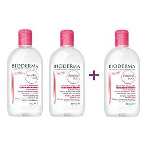 Bioderma Sensibio H2O Solution Micellaire (Créaline) 2+1 Gratuit 1500 ml