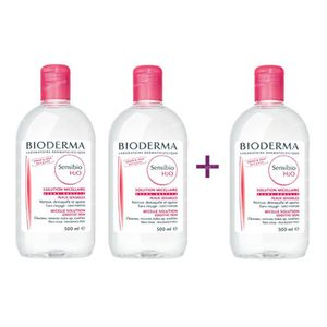 Bioderma Sensibio H2O Solution Micellaire (Créaline) 2+1 Gratuit 3x500 ml