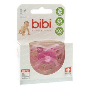 Bibi Fopspeen Collectie 2010 Roze 0-6M 1 St