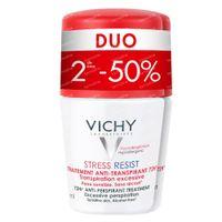 Vichy Deodorant Anti-Transpiratie Stress Resist 72h DUO 2x50 ml roller